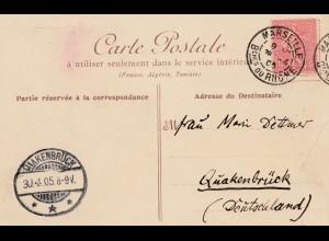 Frankreich: 1905: Ansichtskarte Marseille nach Quakenbrück