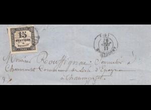 Frankreich: 1886: Taxe auf Brief
