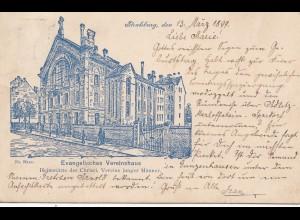 Frankreich: 1899: Strasbourg nach Erlangen, Evangelisches Vereinshaus: CVJM