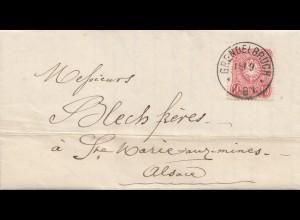 Frankreich: 1886: Grendelbruch /Molsheim nach St. Marie/Markirch