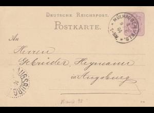 Frankreich: 1884: Mühlhausen nach Augsburg