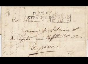 Frankreich: 1822: Strassburg, mit Textinhalt