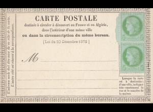 Frankreich: Carte Postale 48b, 2x