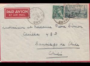 Frankreich: 1939: Luftpost Le Mans nach Chile