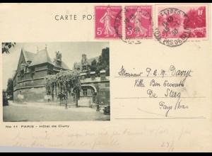 Frankreich: 1938: Ganzsache Belfort nach Niederlande