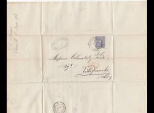 Frankreich: 1876: Rappoltsweiler/Ribeauville nach Villefranche