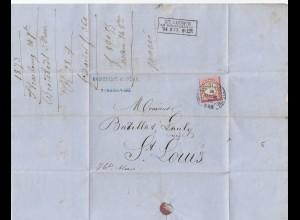 Frankreich: 1873: Strassburg nach St. Louis