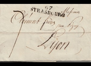 Frankreich: 1822 Strassburg nach Lyon