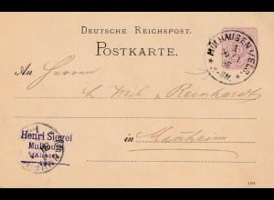 Frankreich: 1885: Mühlhausen nach Mannheim