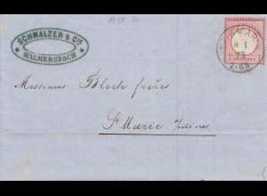 Frankreich: 1873: St. Amarin nach St. Marie - Malmerspach