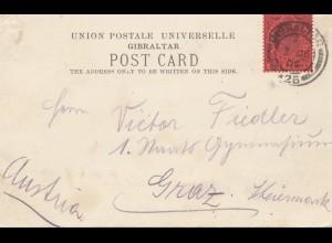Gibraltar: 1906: Postcard nach Graz - Ansichtskarte