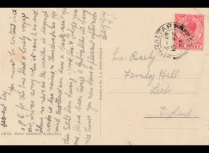 Gibraltar: 1924 Ansichtskarte nach England