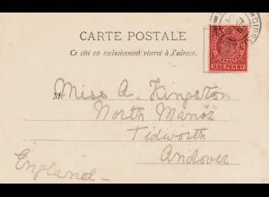 Gibraltar: 1904 Ansichtskarte nach England