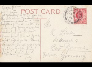 Gibraltar: 1909 Ansichtskarte nach Deutschland