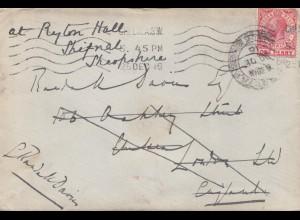 Gibraltar: 1916: Brief nach England