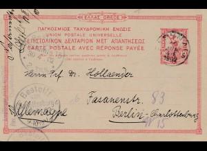 Griechenland: 1902: Ganzsache nach Berlin