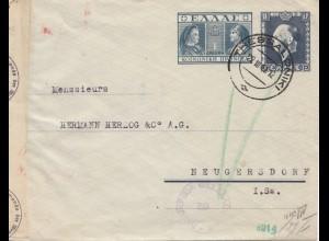 Griechenland: 1941: Ganzsache Thesaloniki nach Neugersdorf - OKW Zensur