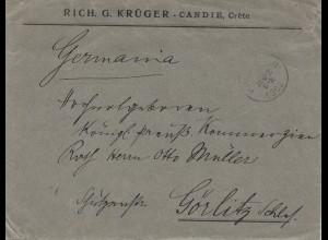 Griechenland: 1902: Brief nach Görlitz