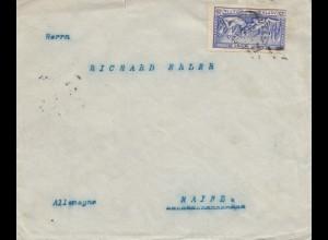 Griechenland: 1907: Brief von Piraeus nach Mainz