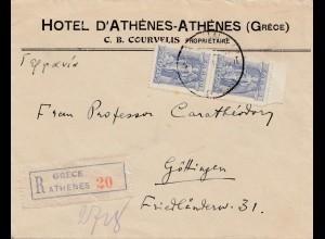 Griechenland: 194x: Athen als Einschreiben nach Göttingen (franz. Zone)