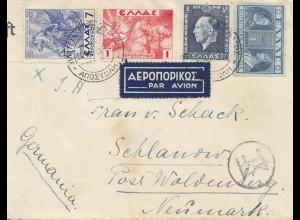 Griechenland: 1939: Brief nach Neumark - Luftpost