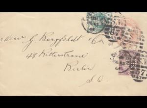 England: Brief nach Berlin - Perfin 6A