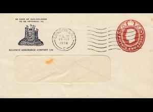 England: 1956: Ganzsache