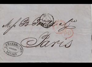 England: 1859: London nach Paris mit Textinhalt