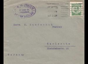 England: Brief Liverpool nach Karlsruhe