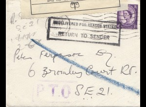 England: 1959: Chelsea - Return to Sender - OPENED