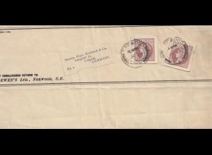 England: 1910: Norwood nach Leipzig