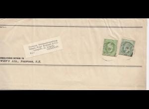 England: 1912: Norwood nach Leipzig
