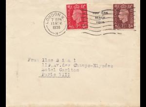 England: 1938: London nach Paris