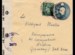 England: 1947: Brief nach Deutschland - Zensur