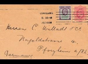 England: 1906: London nach Pforzheim