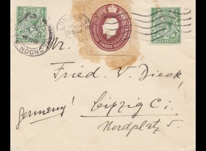 England: 1930 Brief nach Leipzig