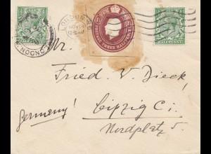 England: 1930 Brief nach Leipzig