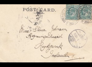 England: 1903 Ansichtskarte Helensburgh nach Iceland