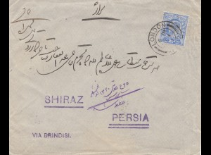 England: 1902 Brief von London nach Persia