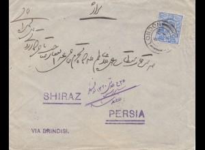 England: 1902 Brief von London nach Persia