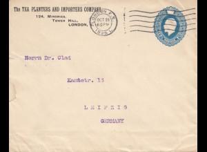 England: 1925: London to Leipzig