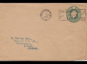 England: 1932: Padington nach Wordhausen/Germany
