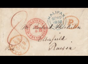England: 1855: Halifax nach Preußen (Prussia) (Elberfield/Elberfeld)