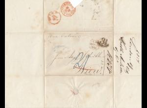 England: 1854: Brief von London nach Wien