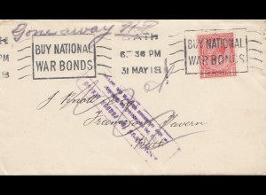 England: 1918: Brief und Scheck - Buy national Bonds