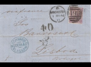 England: 1866: Manchester/Glasgow nach Portugal