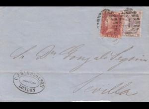 England: 1866: London nach Sevilla - Briefteil