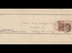 England: 1909 Norwood nach Leipzig