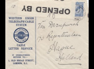 England: 1915: London nach Holland- Censor