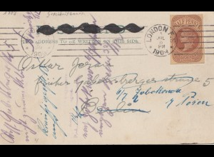 England: 1908 Special Offer London to Berlin